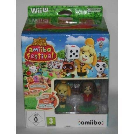 Animal Crossing: Amiibo Festival (Incluye 2 Figuras Amiibo + 3 Tarjetas Amiibo) Wii U
