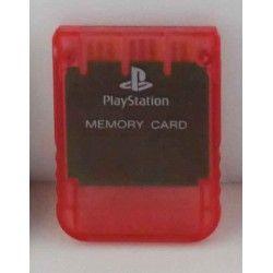 Memory Card Oficial Sony PS1 tarjeta de memoria en Rojo Transparente