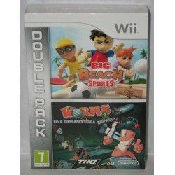 Big Beach Sports & Worms Double Pack Wii