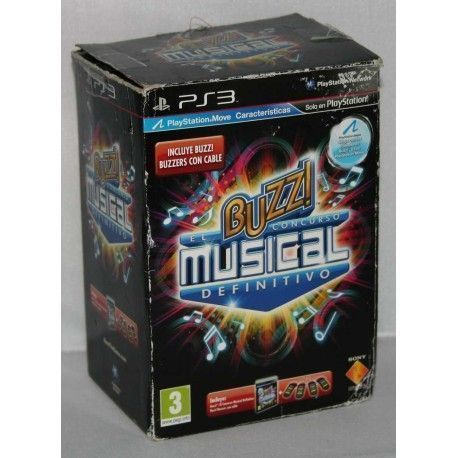 Buzz! El Concurso Musical Definitivo + Buzzers PS3