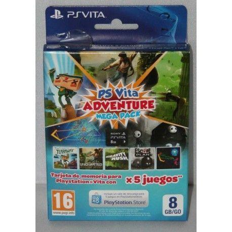 Tarjeta Memoria 8 Gb Adventure Mega Pack con 5 juegos