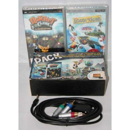 Cable por Componentes + Juego + Película PSP Pack
